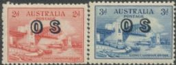 Australian Official Stamp SG O134-5 1932 2d & 3d Opening of Sydney Harbour Bridge (AOG/466)